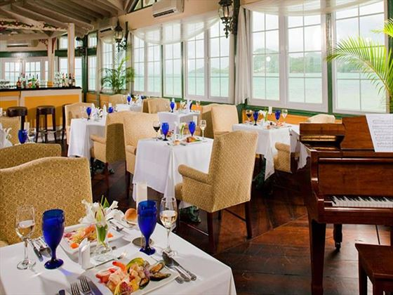 Kelly's Dockside restaurant at Sandals Halcyon Beach St Lucia