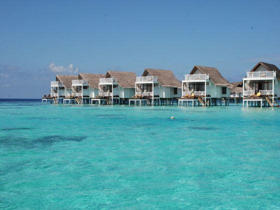 Maldives overwater cabins