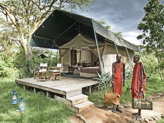Exterior view of the tents at Mara Porini