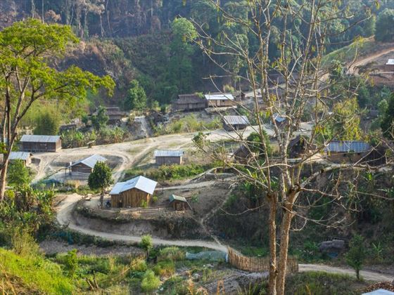 Shan hilltribe village