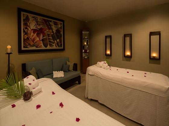 Couple's spa room at Spice Island