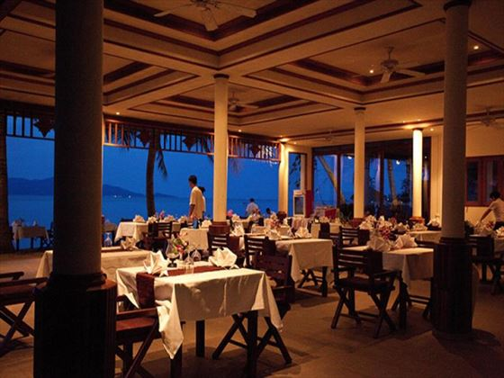 Terrace restaurant at Paradise Beach Resort