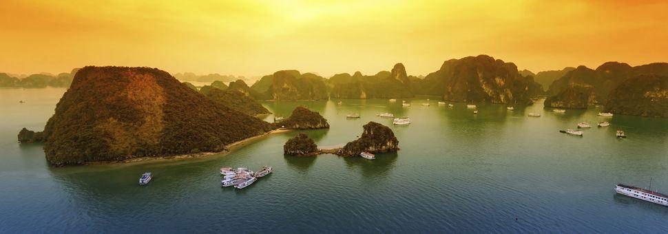 Gorgeous Halong Bay sunset