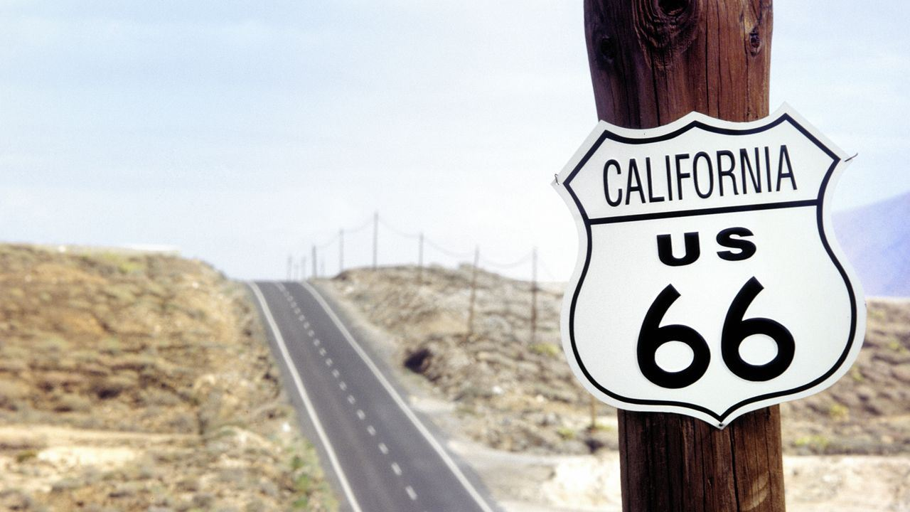Route 66 sign, California