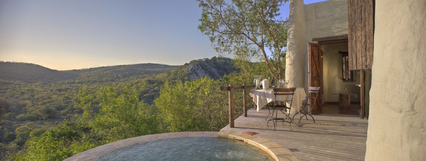 Phinda Rock Lodge private plunge pool
