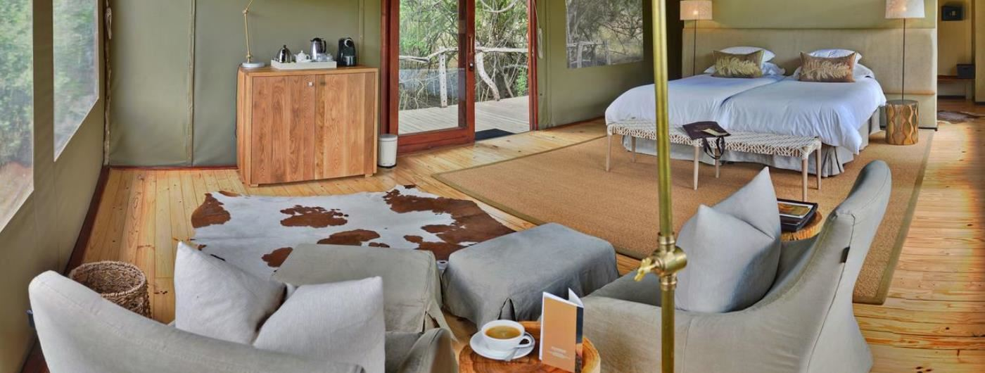 Bayethe Tented Lodge bedroom interior