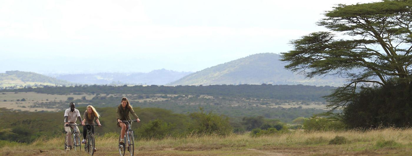 Enjoy a bikeride through the stunning Kenyan landscapes