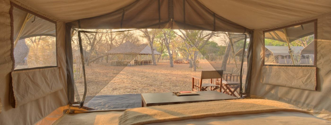 andBeyond Chobe Under Canvas tent interior