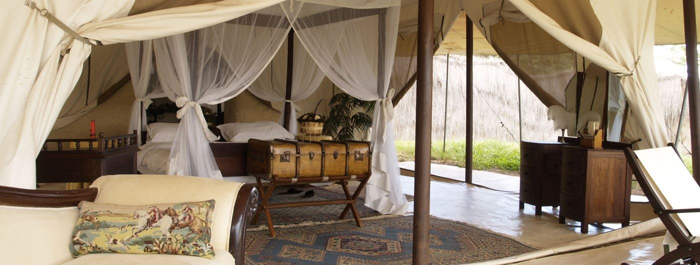 Cottars 1920's Safari Camp tent interior