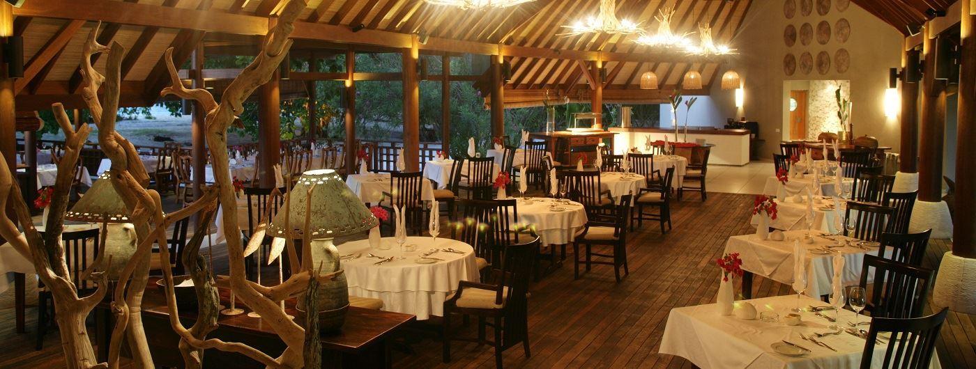 Denis Island restaurant