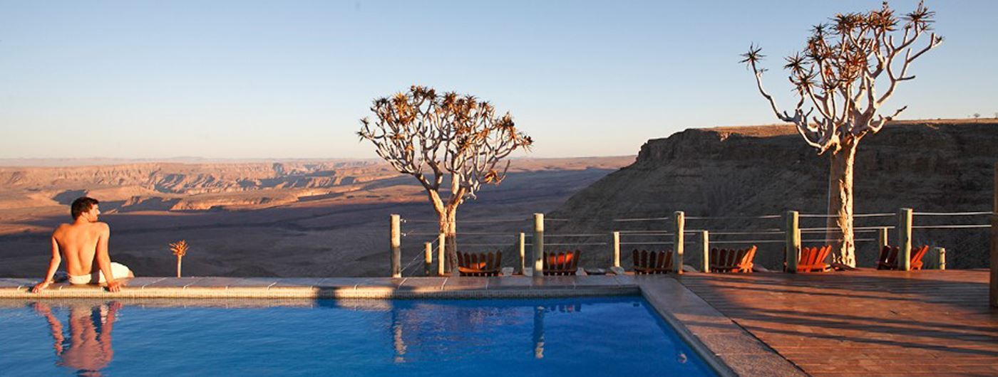 Enjoy a dip in the pool whilst marvelling at Canyon Nature Park