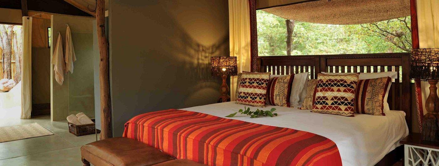 Goliath Safari Camp tent interior