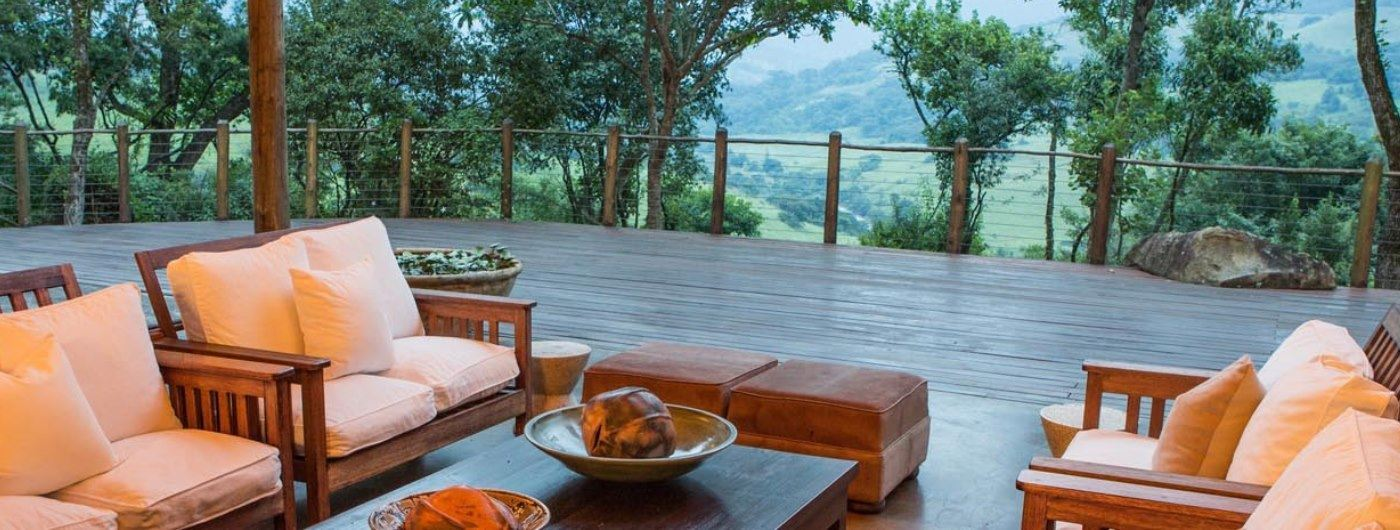 Karkloof Safari Spa main veranda