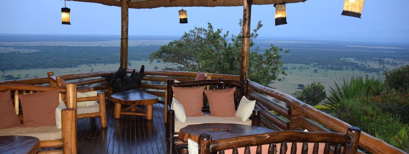 Katara Lodge veranda and view