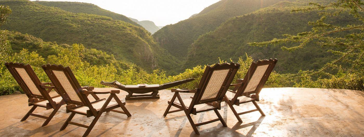 Mukutan Retreat terrace with a view