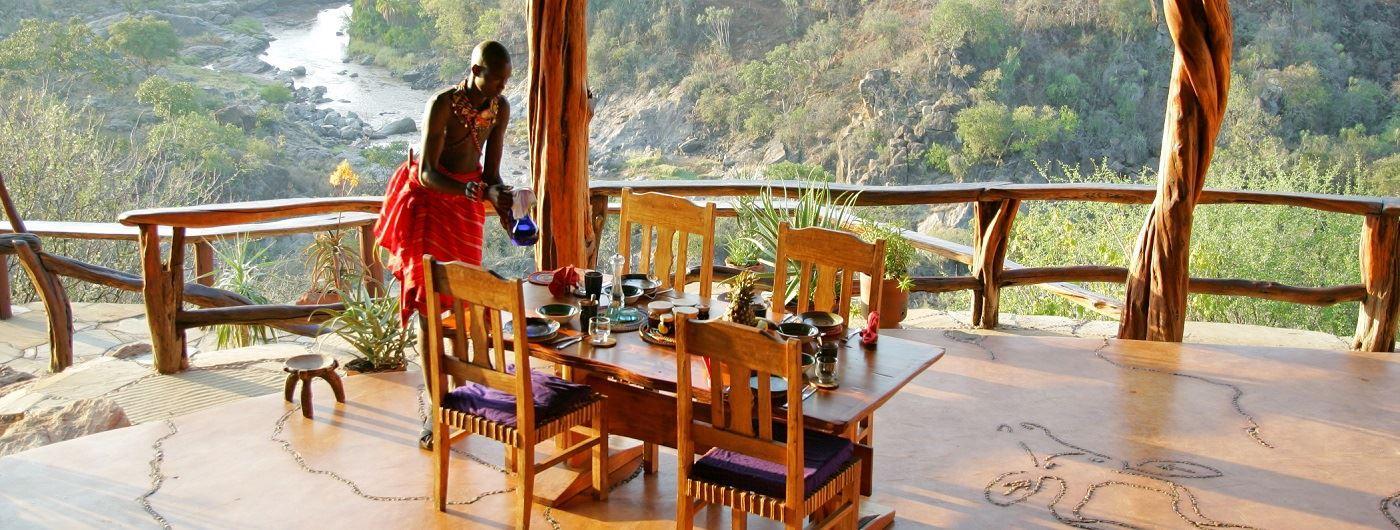 Sabuk breakfast on the dining veranda