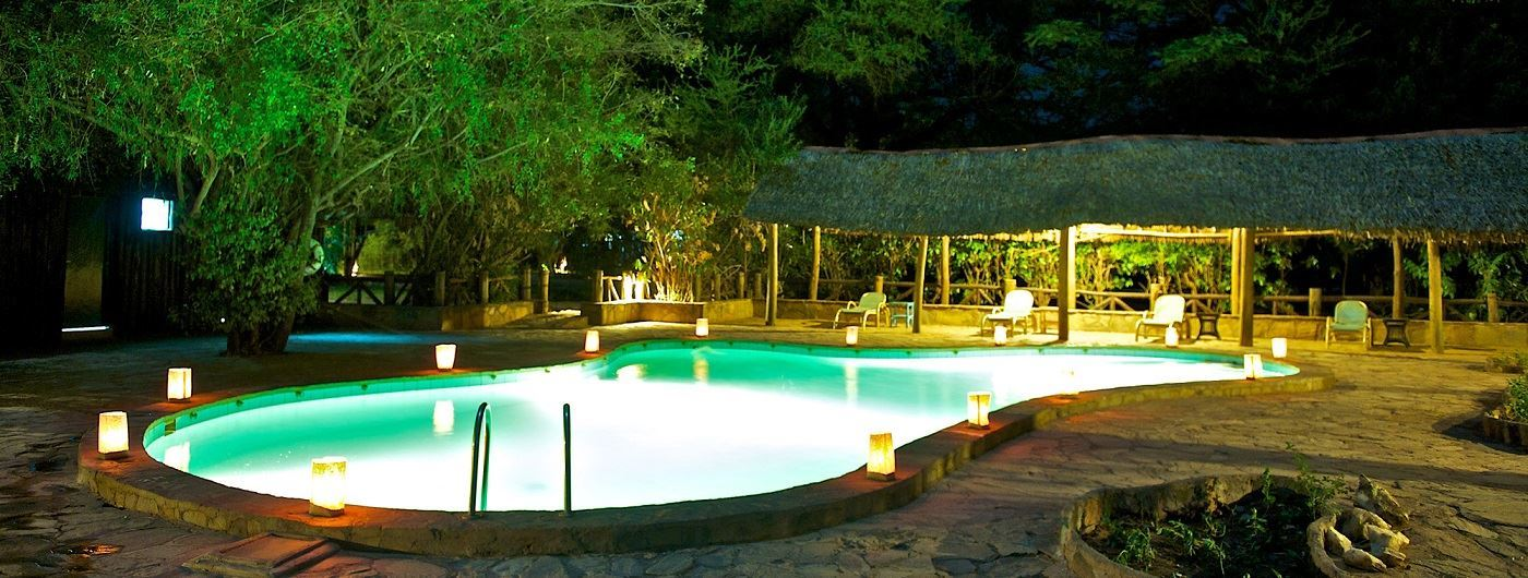 Samburu Intrepids Luxury Tented Camp pool area