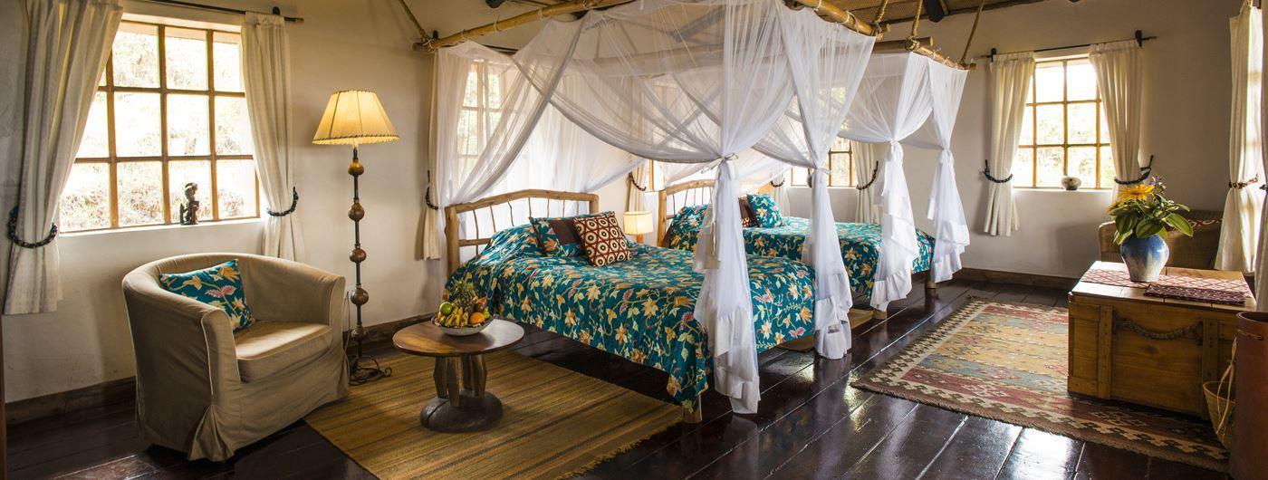 Virunga Lodge room interiors