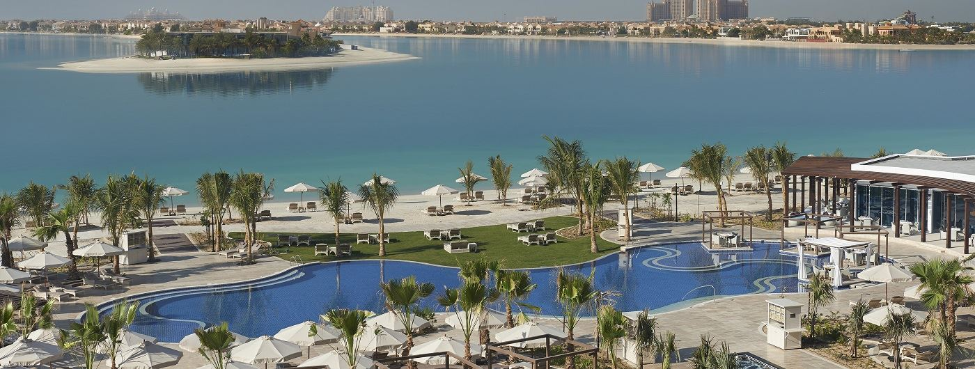 Waldorf Astoria Palm Jumeirah aerial view