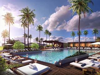 Pool deck - artist's impression