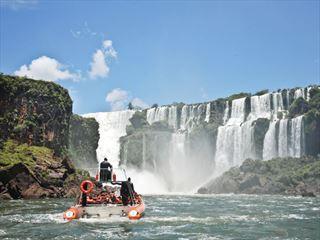 Boat tour of Iguassu Falls