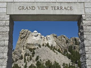 Mount Rushmore viewed from the Grand View Terrace