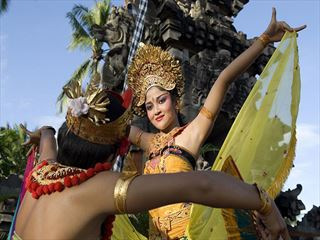 Traditional Balinese procession