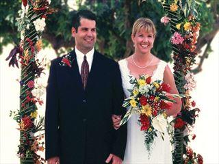 The bride & groom at Oualie Beach Resort