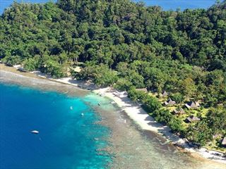 Qamea Resort aerial view