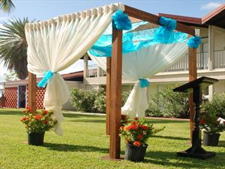 Wedding setting at Halcyon Cove by Rex Resorts