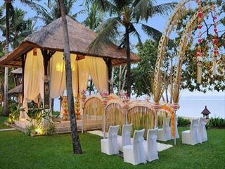Traditonal Balinese wedding setting