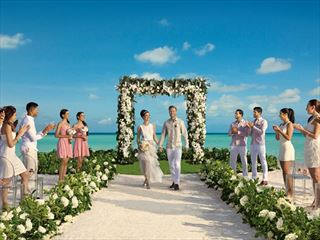 Beach Wedding at Secrets Cap Cana