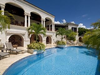 The beautiful pool and sun terrace