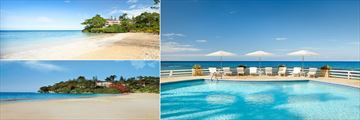 The beach and pool at Couples Sans Souci