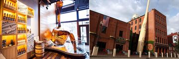 Evan Williams Bourbon Experience, Kentucky and The Slugger Museum, Louisville