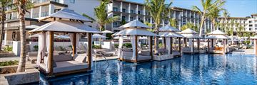 Pool cabanas at Hyatt Zilara Cap Cana