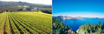 Oregon Vineyards and Views Over Crater Lake National Park