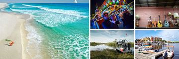 Pensacola Beach, New Orleans music scene, Bay Front Naples, Airboat ride in the Everglades