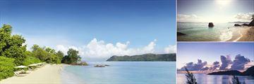 The beach at Raffles Seychelles