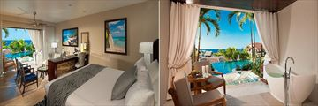 Italian Swim-up Bi Level One Bedroom Suite at Sandals Grenada
