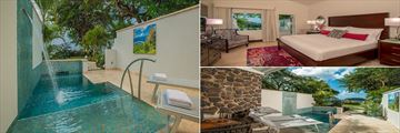 Beachfront Honeymoon Room with Private Pool at Sandals Halcyon Beach