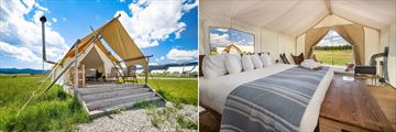 Under Canvas Yellowstone Deluxe Tent