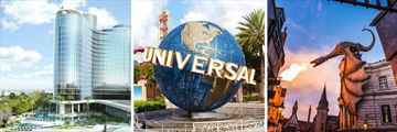 Universal's Aventura Pool, The Universal Sign and Wizarding World of Harry Potter