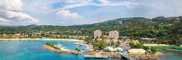 Aerial View of Ocho Rios Jamaica