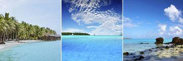 Aitutaki lagoons & beach scapes