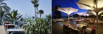 Athina Lounge and Blue Breezes Lounge at Amathus Beach Hotel