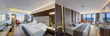 Superior Inland Room and Superior Sea View Room at Amathus Beach Hotel
