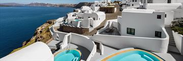 Aerial view of Ambassador Aegean Luxury Hotel & Suites Santorini