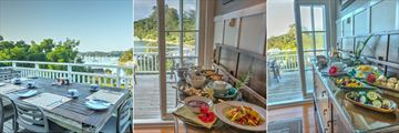 Dining on the Balcony and Buffet Options at Arcadia Lodge