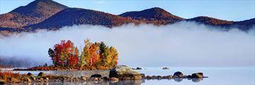 Autumn mist in Vermont